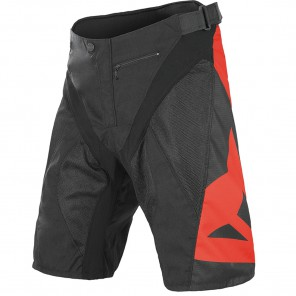 DAINESE HUCKER PANTS SHORT SZORTY - BLACK/RED