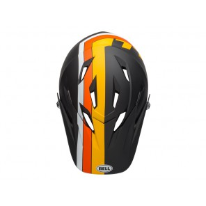 BELL SANCTION agility matte black yellow orange kask