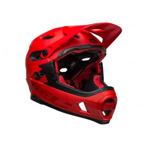 BELL SUPER DH MIPS SPHERICAL matte gloss crimson black kask