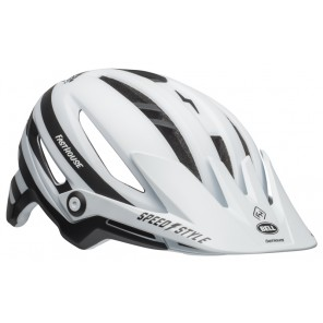 BELL SIXER INTEGRATED MIPS fasthouse stripes matte white black kask
