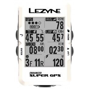 Komputer rowerowy LEZYNE Super GPS pearl white (LIMITED EDITION)