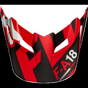 Daszek Do Kasku Fox V-1 Sayak Red M/l