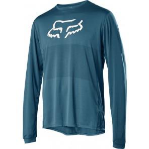 Koszulka Rowerowa Fox Z Długim Rękawem Ranger Foxhead Maui Blue