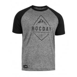 Koszulka ROCDAY Peak szary/czarny