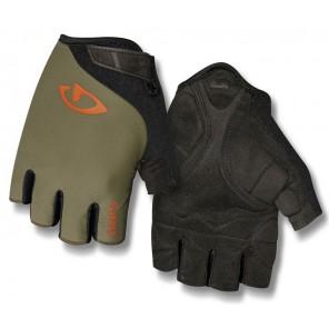 Rękawiczki męskie GIRO JAG krótki palec olive deep orange roz. XL (obwód dłoni 248-267 mm / dł. dłoni 200-210 mm) (NEW)