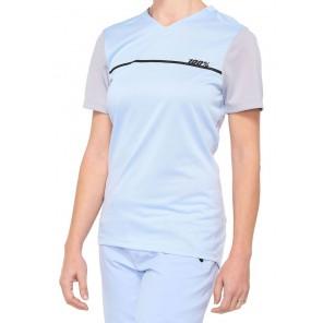 Koszulka damska 100% RIDECAMP Jersey krótki rękaw powder blue grey