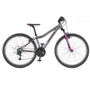"""A-MATRIX 26 13,5"""" grafitowo(mat)/różowy, rower AUTHOR'19"""