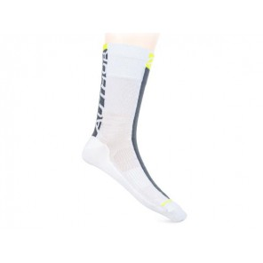 Skarpetki kolarskie AUTHOR Stripe biało-szaro-żółte 39-42