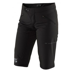 Szorty damskie 100% RIDECAMP Womens Shorts black