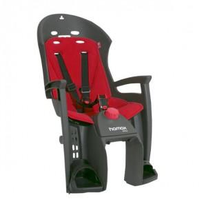 Hamax Fotelik row. SIESTA ciemnoszary, czerwona wyściółka, z adapterem na bagażnik
