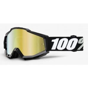 Gogle 100% ACCURI TORNADO (Szyba Złota Lustrzana Anti-Fog + Szyba Przezroczysta Anti-Fog)