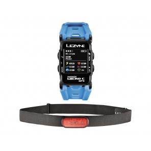 Komputer rowerowy LEZYNE MICRO C GPS WATCH COLOR HR, cyan