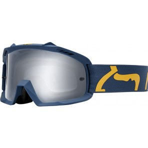 GOGLE FOX JUNIOR AIR SPACE RACE NAVY/YELLOW - SZYBA CLEAR