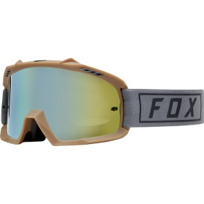 GOGLE FOX JUNIOR AIR SPACE GASOLINE GREY - SZYBA GOLD SPARK