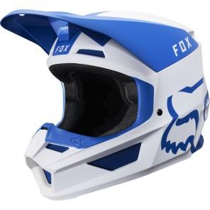 FOX V-1 MATA kask biało-niebieski