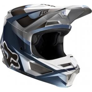 FOX V-1 MOTIF kask czarno-srebrny