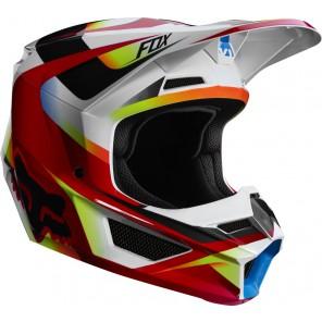 FOX V-1 MOTIF kask czerwono-biały