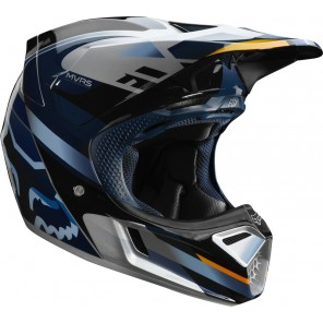 FOX V-3 MOTIF kask niebiesko-srebrny