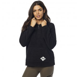 FOX LADY Z KAPTUREM ROAD RAIDER SHERPA BLACK BLUZA