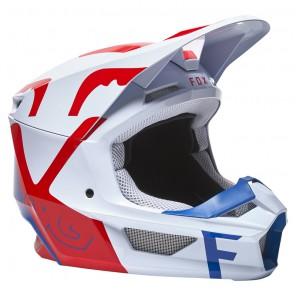Kask FOX V1 Skew White/Red/Blue