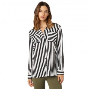 Koszula Fox Lady Jail Break Woven Black/white Xs