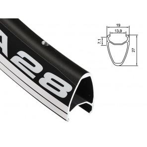 Obręcz szosa ALEXRIMS DA28 700x20otw. bok CNC czarna (DWZ)