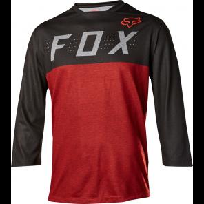 FOX Indicator 3/4 Heather jersey czarno-czerwony-M