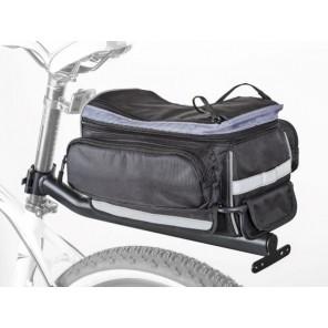 Torba na bagażnik AUTHOR LitePack 9 X7 czarna, w zestawie bagażnik na sztycę