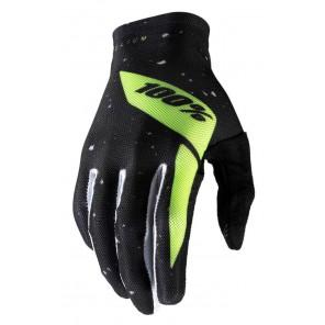 Rękawiczki 100% CELIUM Glove black fluo yellow roz. L (długość dłoni 193-200 mm) (NEW)