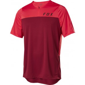 FOX Koszulka Rowerowa  Flexair Zip Chili