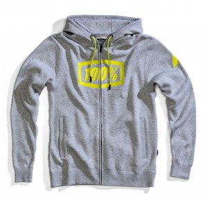 Bluza męska 100% SYNDICATE Hooded Zip Sweatshirt Grey Heather roz. M (NEW)