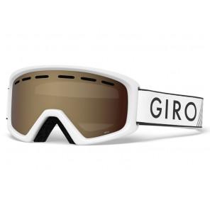 Gogle zimowe GIRO REV WHITE ZOOM (szyba AMBER ROSE 39% S2) (NEW 2020)