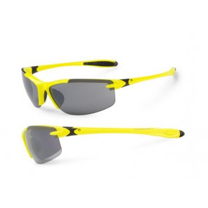 Accent Okulary Tempest żółto fluo - czarne; soczewki PC: szare, przezroczyste