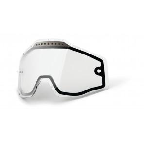 Szyba do gogli 100% RACECRAFT/ACCURI/STRATA (Szyba Przeźroczysta Podwójna Wentylowana Anti-Fog)