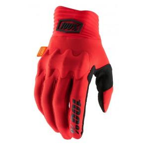 Rękawiczki 100% COGNITO Glove red black roz. S (długość dłoni 181-187 mm) (NEW)