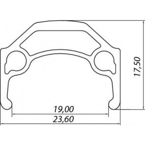 Obręcz Crossracer 700C 32 otwory, srebrna