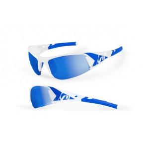 Accent Okulary Jackal biało - czerwone; soczewki PC: czerwone lustrzane, przezroczyste  [c]