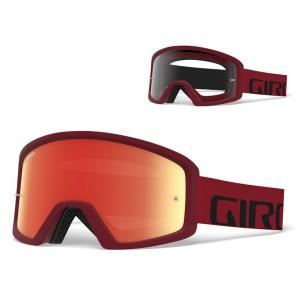 Gogle GIRO TAZZ red black (Szyba kolorowa AMBER xx% S3 + Szyba Przeźroczysta 99% S0) mocowanie pod zrywki +10 zrywek (NEW)