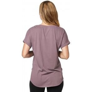 T-shirt Fox Lady Responded Purple