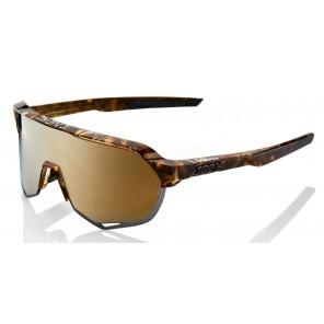 Okulary 100% S2 Cadence Gloss Havana - Soft Gold Lens (Szkła Złote, przepuszczalność światła 10% + Szkła Przeźroczyste, przepuszczalność światła 93%)