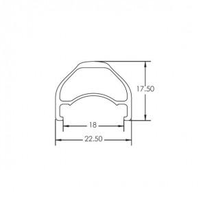 """Obręcz EXE 27.5"""" 32 otwory, czarno-biało-różowa, szerokość 22,5mm, tubeless ready"""