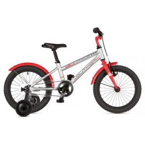 """STYLO 16 9"""" srebrno/czerwony, rower AUTHOR"""