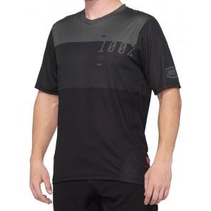 Koszulka męska 100% AIRMATIC Jersey krótki rękaw charcoal black
