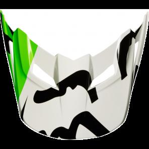 Daszek Do Kasku Fox V-1 Race White/black/green M/l