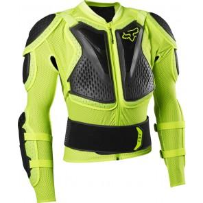 Koszulka Z Ochraniaczami Fox Titan Sport Flo Yellow