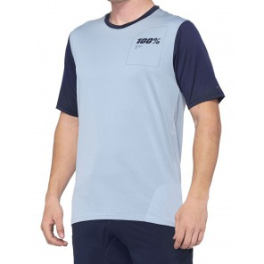 Koszulka męska 100% RIDECAMP Jersey krótki rękaw light slate navy