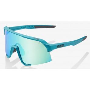 Okulary 100% S3 PeterSaganLE Blue Topaz - Blue Topaz Multilayer Mirror Lens (Szkła Błękitne Lustrzane Wielowarstwowe, przepuszczalność światła 14% + Szkła Przeźroczyste, przepuszczalność światła 93%)