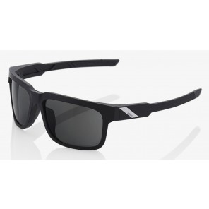 Okulary 100% TYPE-S Soft Tact Black - Smoke Lens (Szkła Czarne Smoke, przepuszczalność światła 12%) (NEW)
