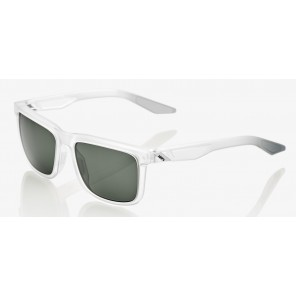 Okulary 100% BLAKE Matte Translucent Crystal Clear - Grey Green Lens (Szkła Szaro-Zielone)