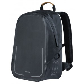 Plecak BASIL URBAN DRY BACKPACK 18L, mocowanie na haki Hook-On System, czarny mat (NEW)